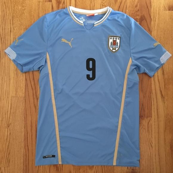 the latest c6a7d af9bb Men's puma Luis Suarez Uruguay soccer jersey